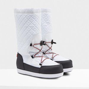 HUNTER Original Snow Boots Quilted White  5 NEW